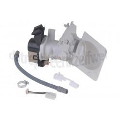 Afvoerpomp wasmachine -3 tuiten met filter- Bauknecht/Whirlpool 481231028144